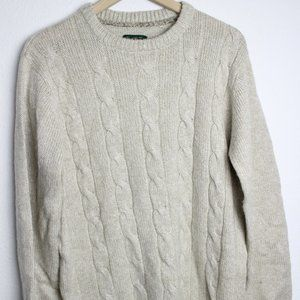 David Taylor Collection Knit Red Sweater Wool